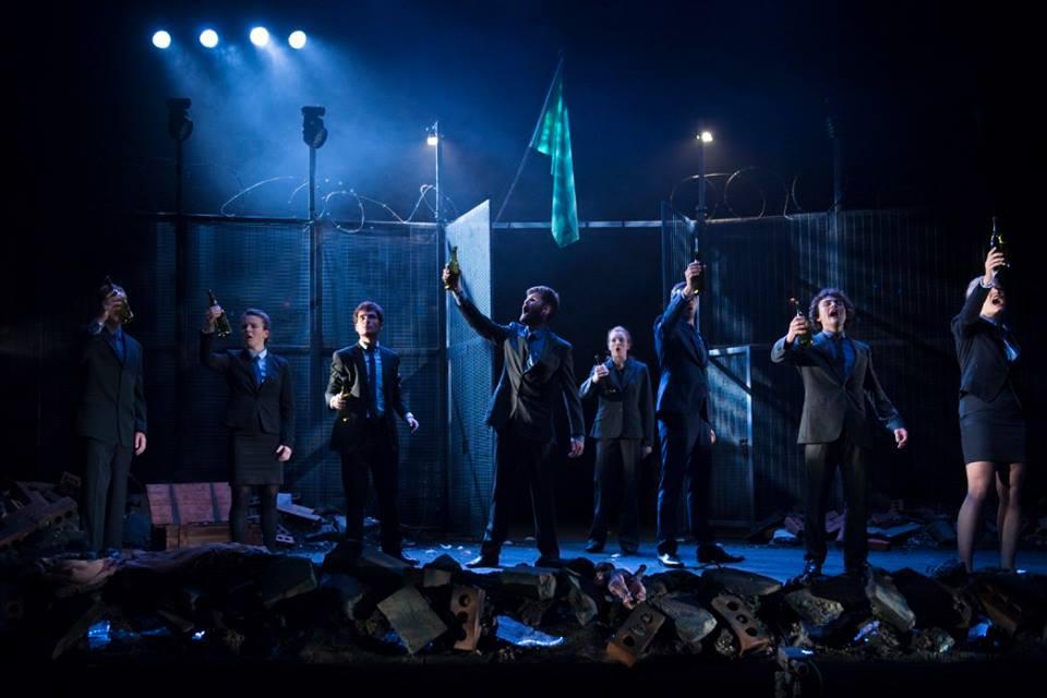 Antigone and Lysistrata designed by Neil Irish at The Cambridge Arts Theatre