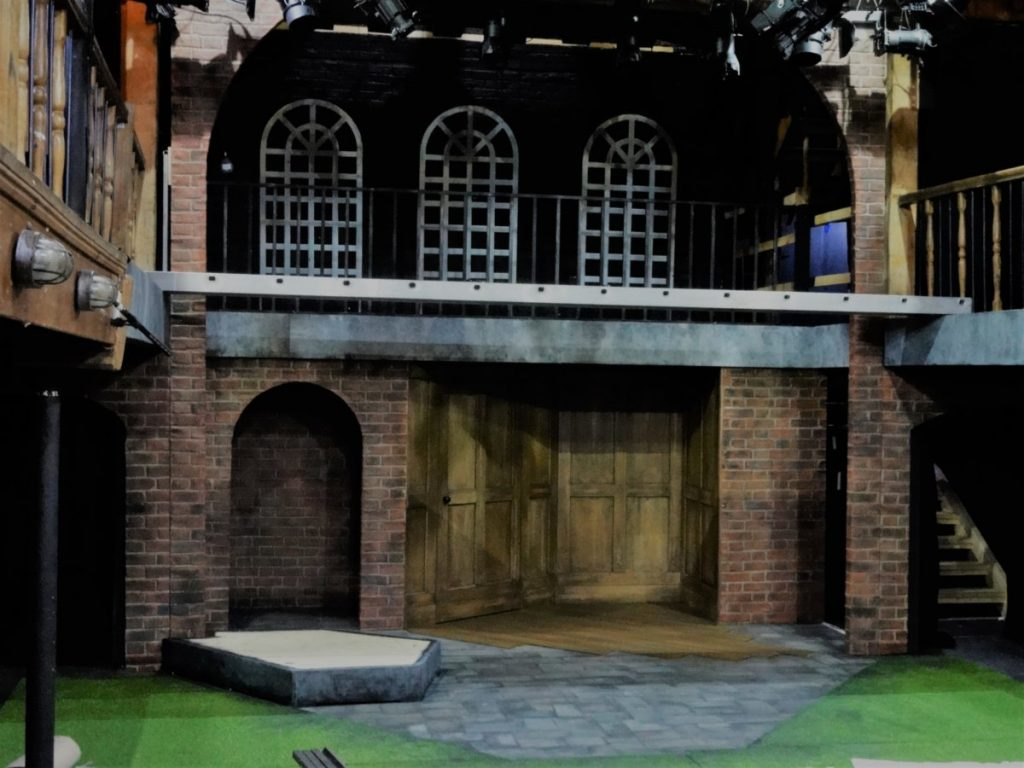 Ann Veronica set on fit up day designed by Libby Todd at the Watermill Theatre