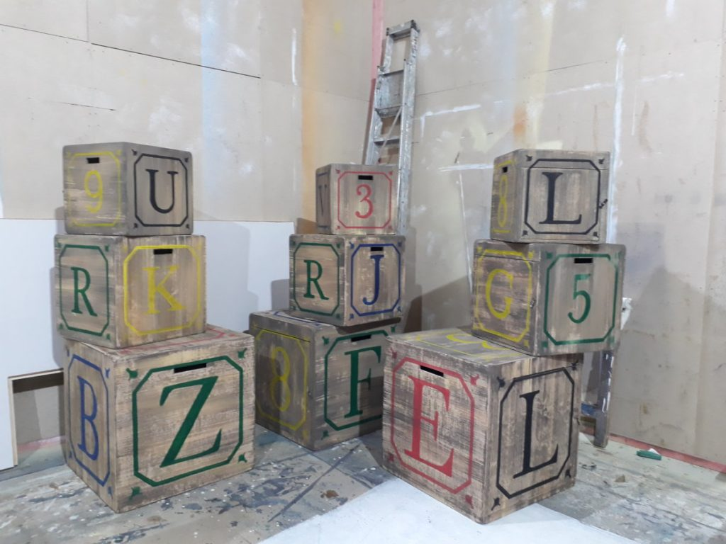 The Borrowers – the building blocks in our workshop
