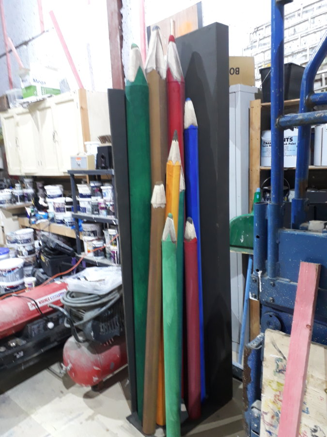 The Borrowers – pencil bundle props in DSH workshop