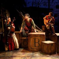 The Borrowers – Watermill production shot designed by Toots Butcher