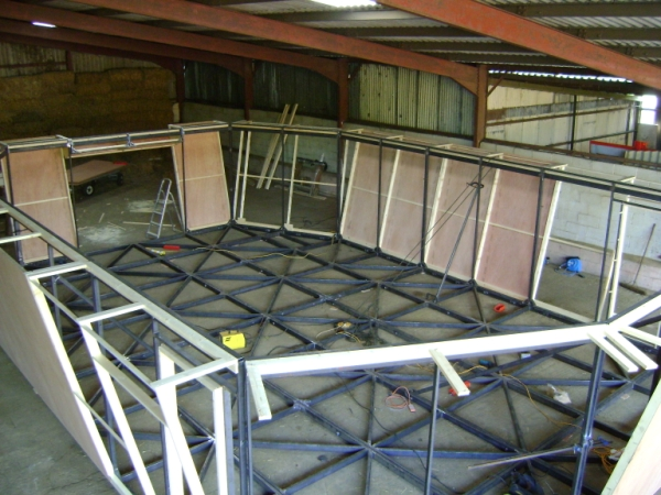 The Ark steel framework Stage 2 of the build process