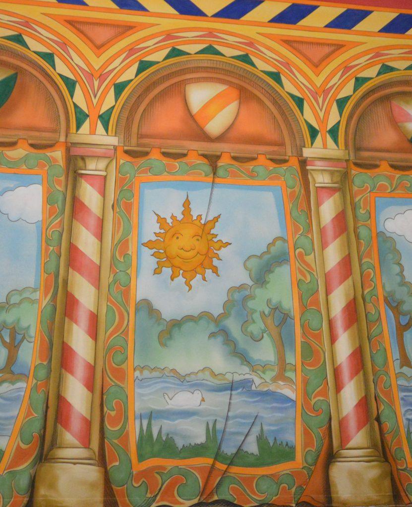 DSH Sleeping Beauty pantomime Castle Corridor cloth detail