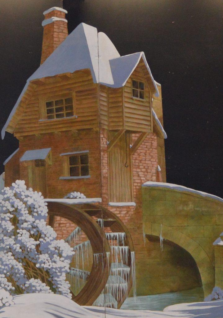 DSH Cinderella set 1 winter vilage scene mill