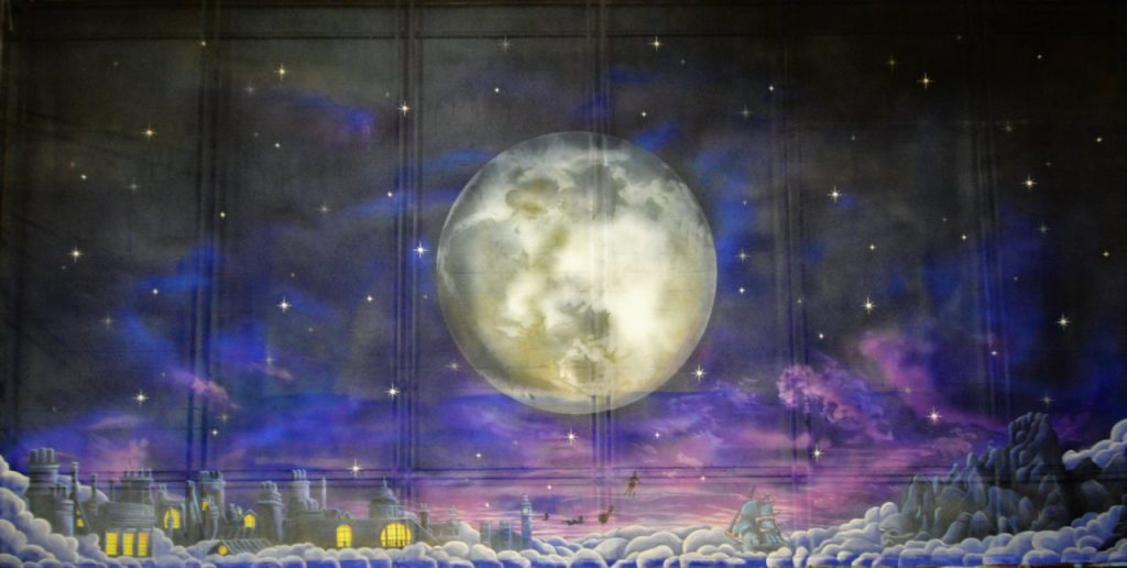 Peter Pan Gauze Cloth painted for Imagine Productions