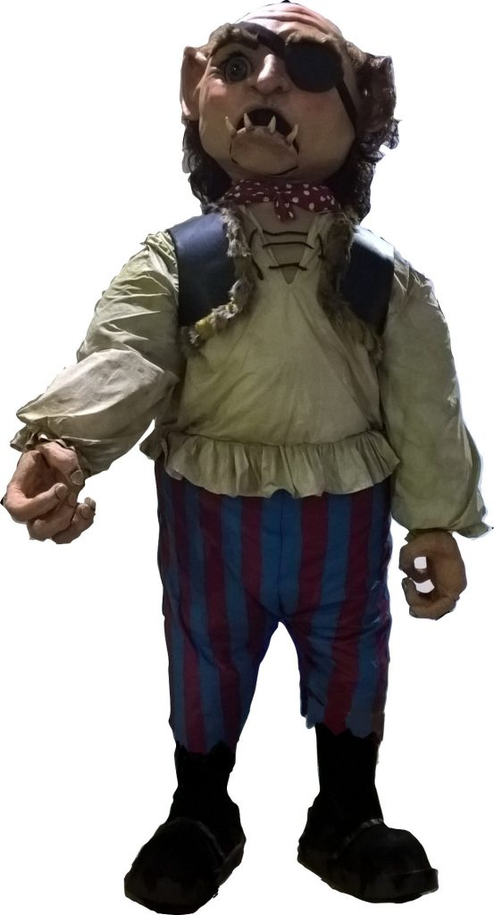 DSH props and effects for hire Gog the animatronic giant - Giant Jack and the Beanstalk