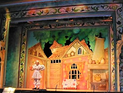 DSH Jack and the Beanstalk set 2 pantomime Act 1 Sc 7: Dame Trot's Cottage Interior
