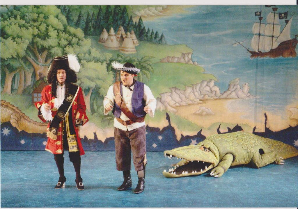 DSH Peter Pan pantomime Map cloth detail and Crocodile costume