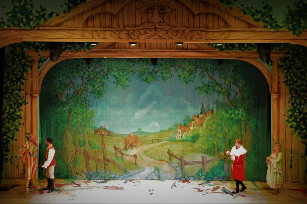 DSH Jack and the Beanstalk set 2 pantomime To the town cloth