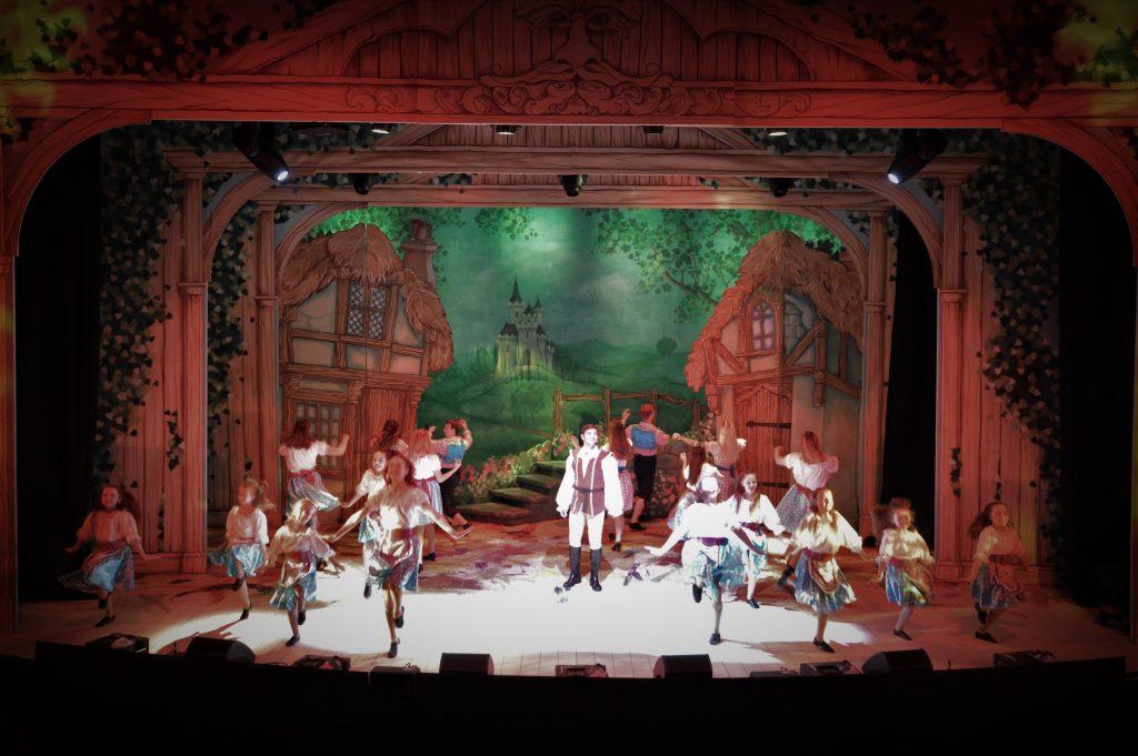 DSH Jack and the Beanstalk set 2 pantomime Village scene