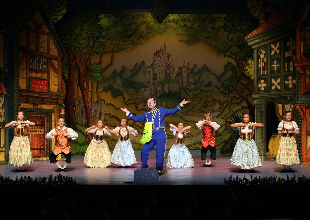 DSH Sleeping Beauty pantomime set Village scene