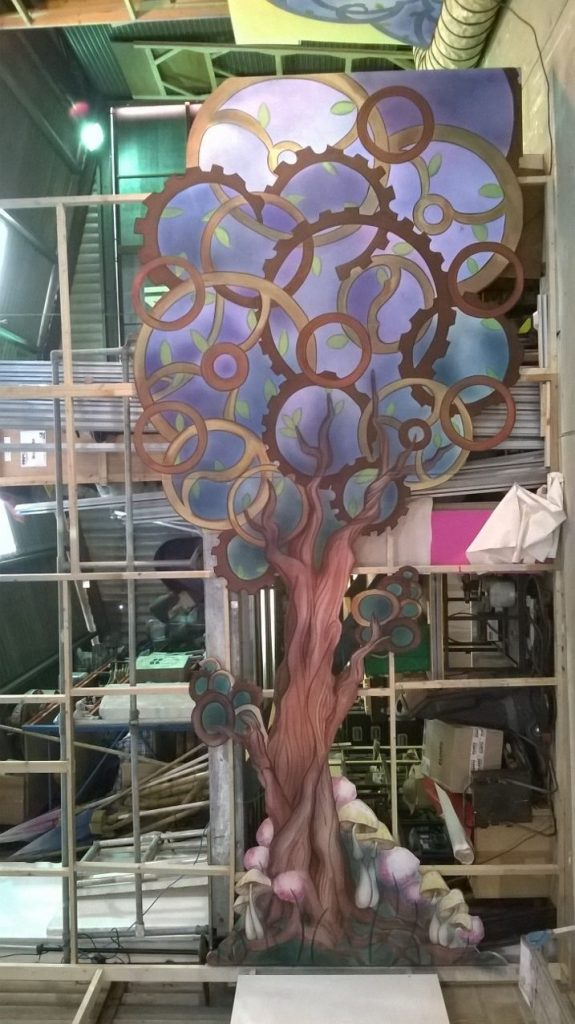 Cinderella tree flat on our paint frame designed by Rebecca Lee