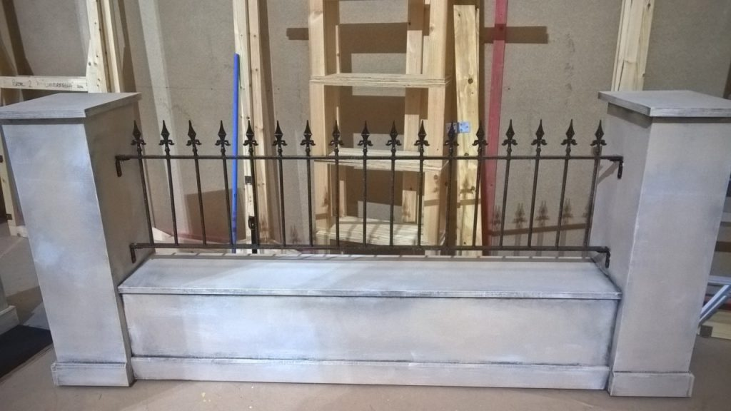 My Fair Lady wall and railings designed built and painted by DSH