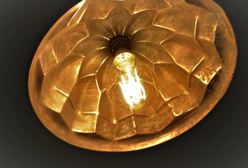 Shepherd Hut Copper jelly mould lamp shade