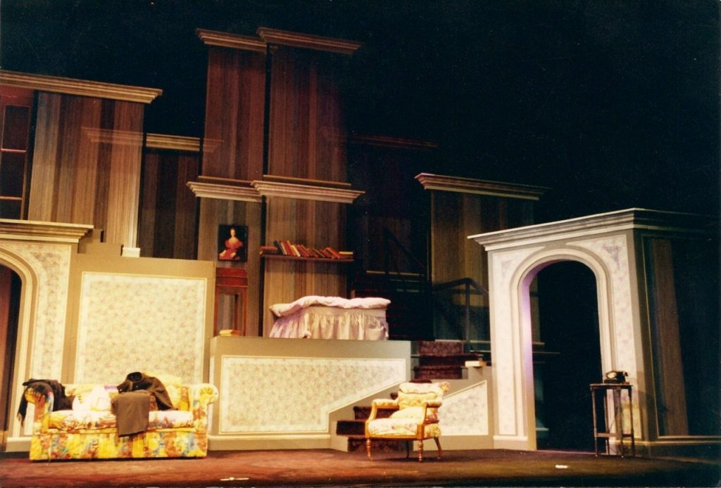 House of Stairs at The Thorndike Theatre, desighned by Rodney Ford