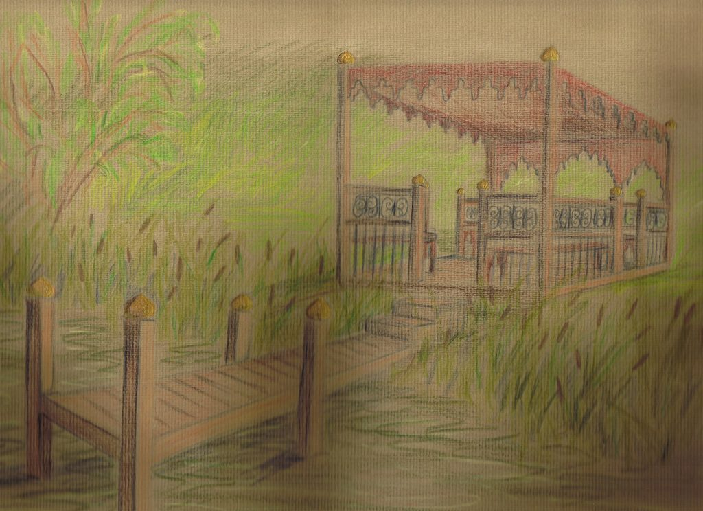 Indian Gazebo Sketched rendition of the proposed structure.