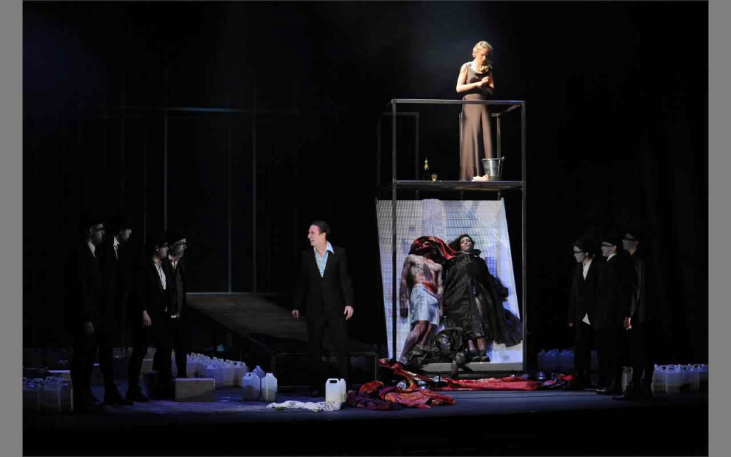 Agamemnon designed by Neil Irish at The Cambridge Arts Theatre
