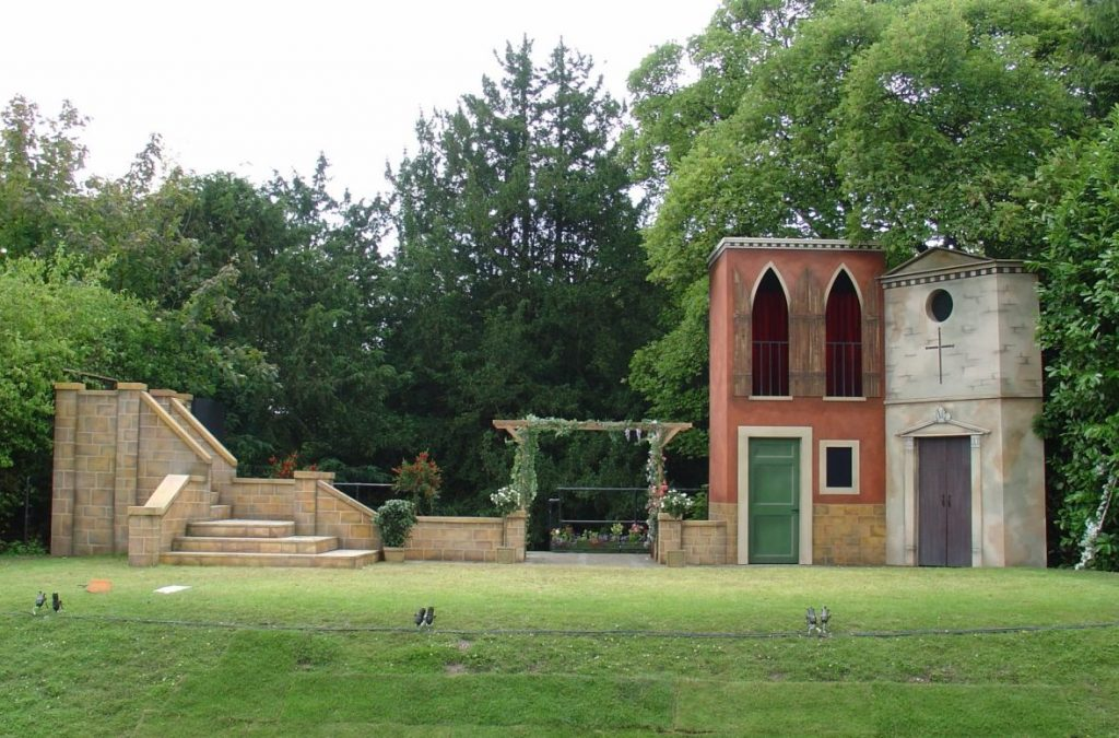 Much ado about Nothing, designed by Sarah Holland at Polesden Lacey Open Air Theatre