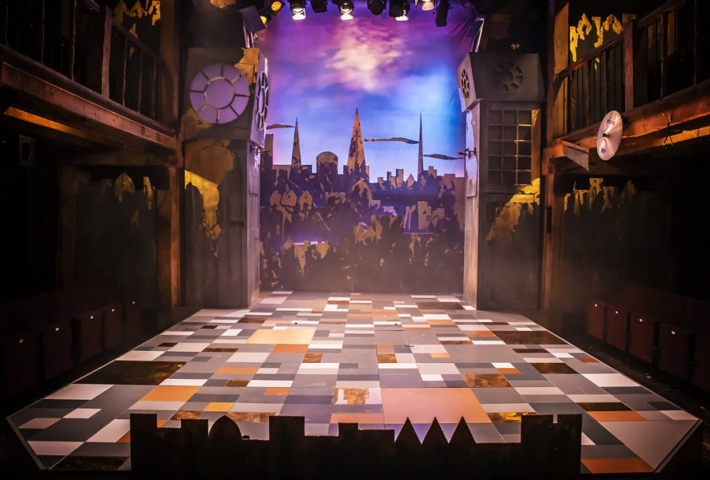 The Prince and the Pauper - DSH scenery construction designed by Katie Lias for the Watermill Theatre.