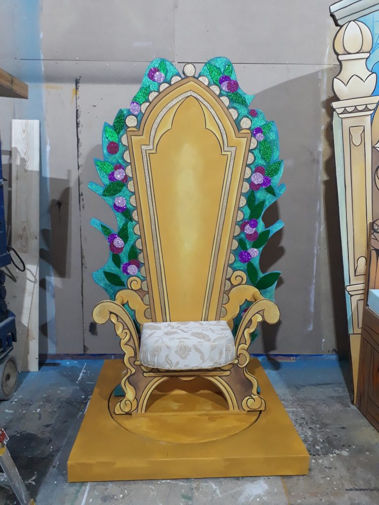DSH props and effects Prince's throne. Beauty and the Beast pantomime.
