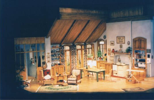 Dejavous box set at the Thorndike Theatre designed by Elroy Ashmore