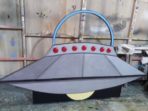 DSH props and effects. Pantomime flying saucer.