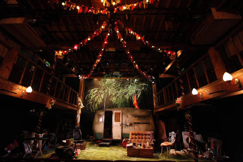 Jerusalem - designed by Frankie Bradshaw built and painted by DSH for the Watermill Theatre