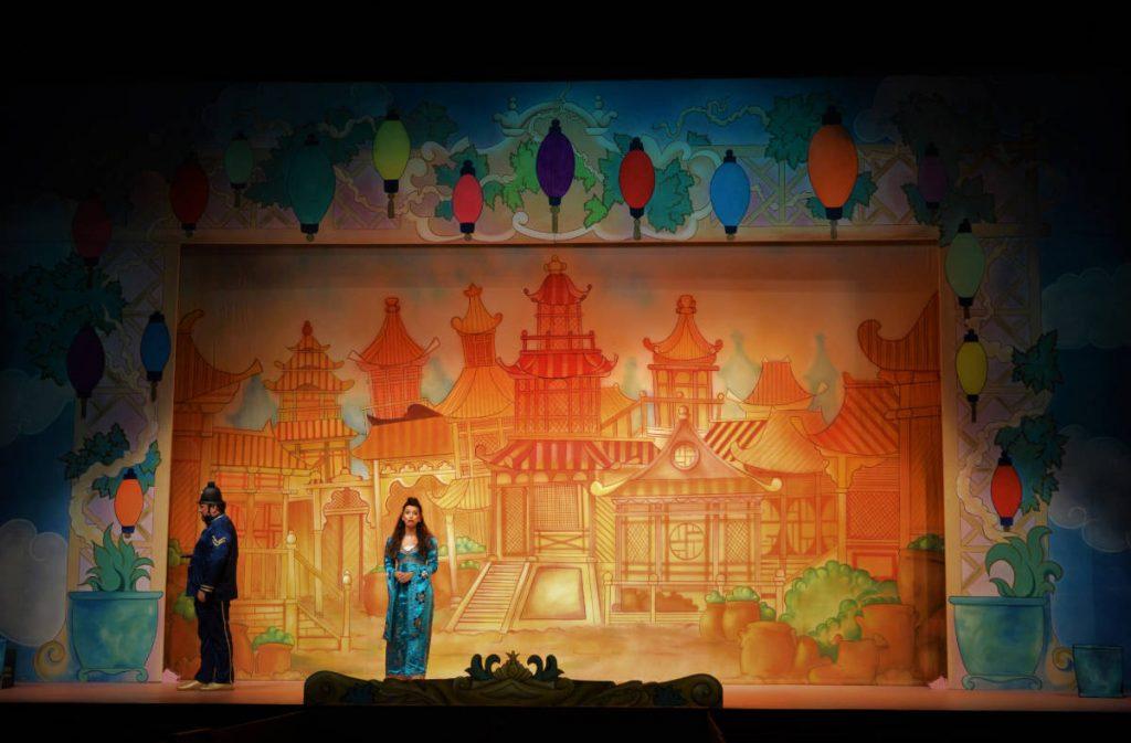 DSH Aladdin Set 2 Peking Town front cloth. Pantomime set for hire.