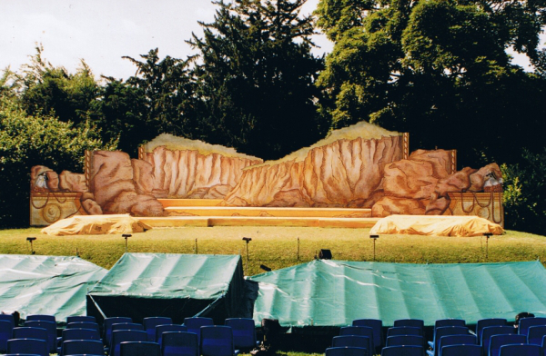 The Pirates of Penzance - Polesden Lacey open air theatre. DSH scenery construction.