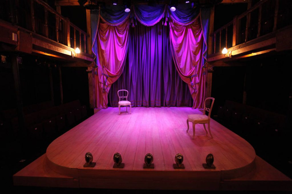 The Rivals - Textured and grained floor at the Watermill theatre